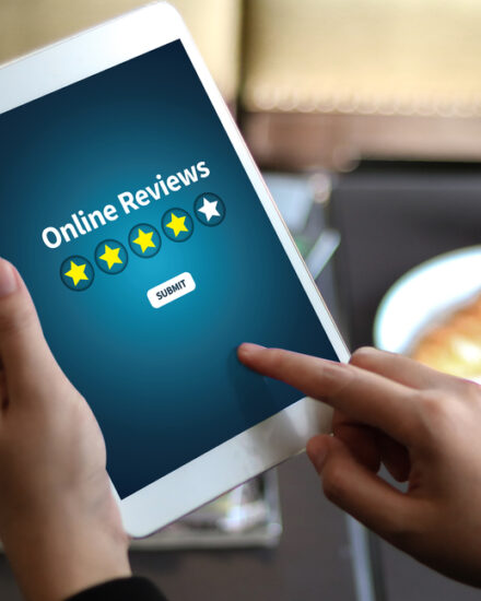 negative online review on a digital device