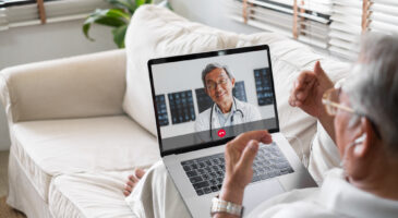 telehealth appointment on mobile device
